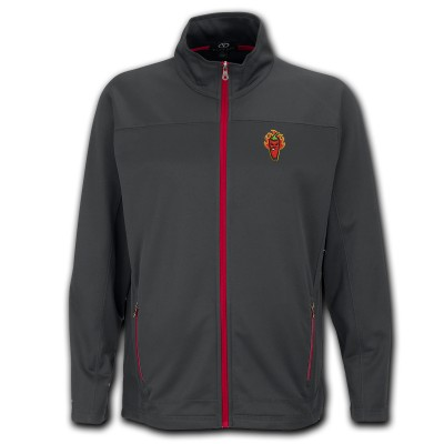 Picantes Gray Micro Fleece Full Zip Jacket