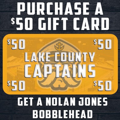Gift Card Special with Nolan Jones Bobblehead