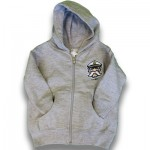 Infant & Toddler Hooded Zip Up Sweatshirt- Grey